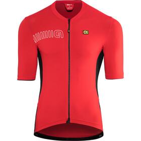 Alé Cycling Solid Color Block Kurzarm Trikot Herren rot/schwarz